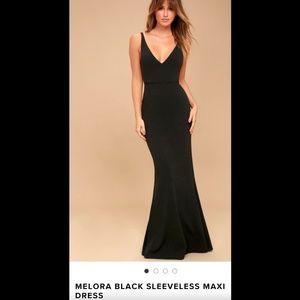 Dresses & Skirts - Lulu's Melora Black Sleeveless Maxi Dress
